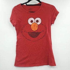 Sesame Street Elmo Graphic Tee Red Large Youth